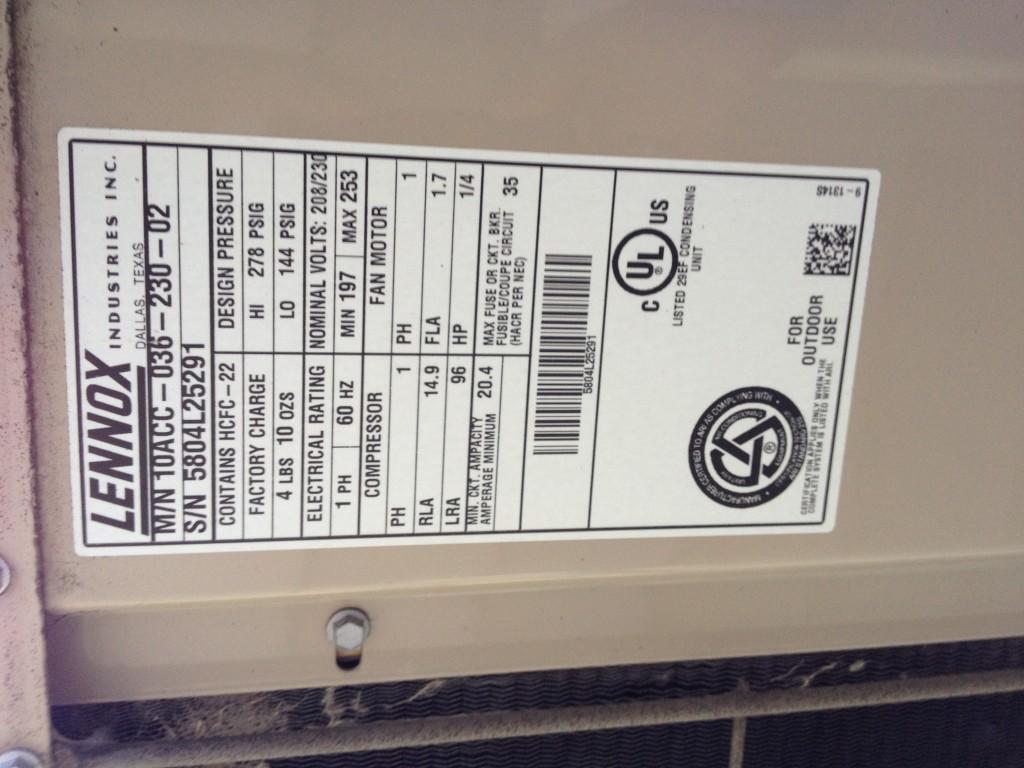 Air Conditioner Specs